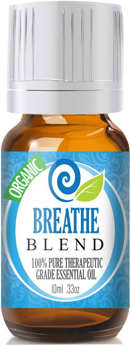 Breathe Essential Oil (Organic, 10ml) 100% Pure, Best Therapeutic Grade - (Peppermint, Rosemary, Lemon & Eucalyptus Blend - Comparable to Doterra Breathe, Young Living Raven, Eden's Exhale, Inhale, Respiratory and Sinus Relief)