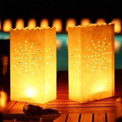 10 Pcs Pack Candle Lamp Lantern Diwali Kandil Light Bag Wax Diya
