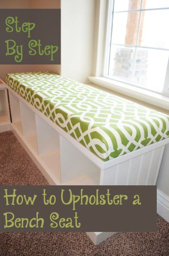 How to Upholster a Bench Seat Tutorial
