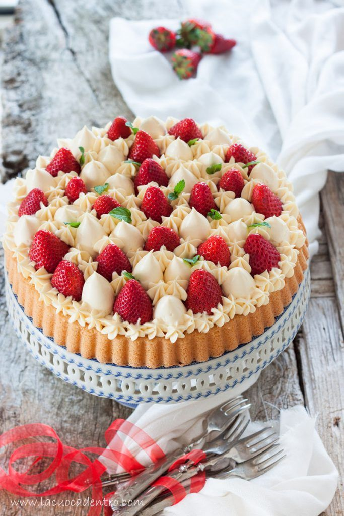 Crostata con base soffice alla crema di mascarpone e fragole – La Cuoca Dentro