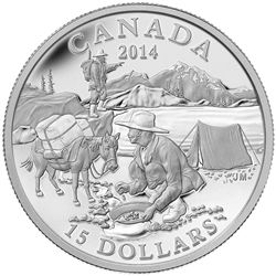 2014 $15 fine silver coin - exporing Canada: The Gold Rush | Royal Canadian Mint Coins.