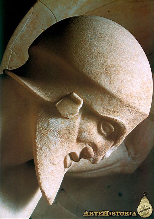 Templo de Atenea Afaya (Egina). Cabeza de guerrero agonizante