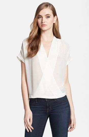 White Chiffon Top | @Nordstrom