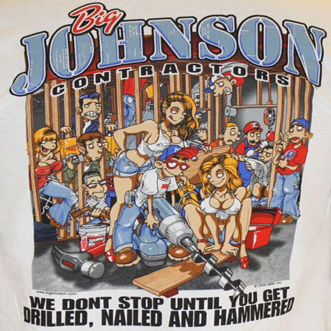 Big johnson fish naked t-shirts