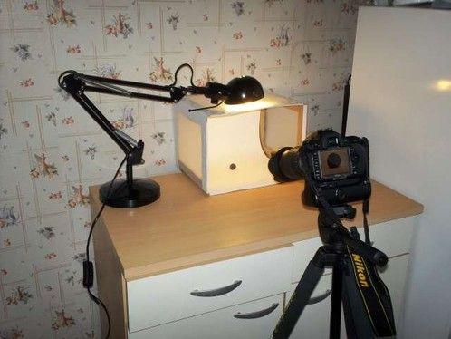 Mini studio photo maison. - Pratique pour faire de jolies photos d'objets que l'on veut vendre.