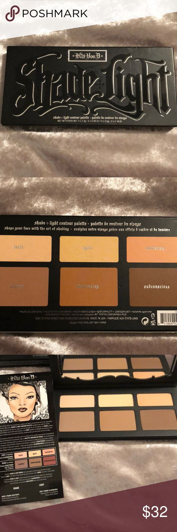KatVonD Shade + Light contour Palette Beautiful KatVonD palette for rich blendable contour and highlighting!!!  Brand new in box w instructions. Kat Von D Makeup Bronzer