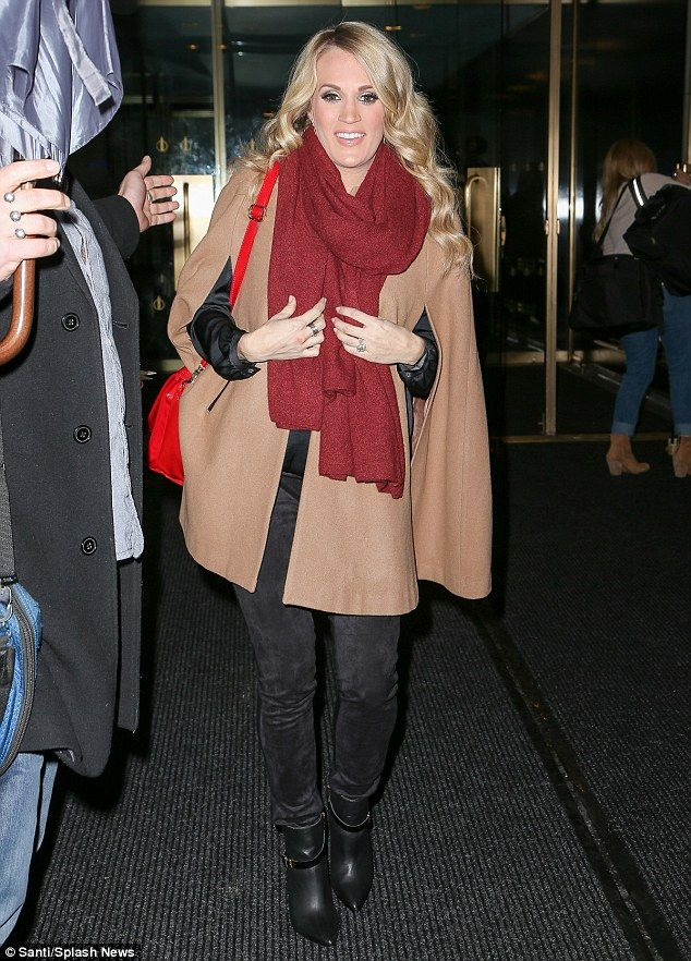 Ready for her close up! Pregnant Carrie Underwood appeared on The Today Show in New York City on Tuesday