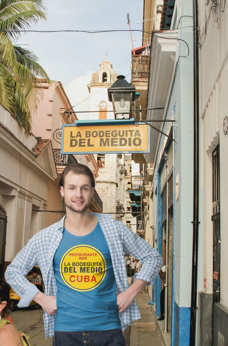 Bodeguita del Medio in Havana - Habana Vieja - Cuba - shirt for  sale at Zazzle - #cuba #havana #habana #cubajunky #bodeguitadelmedio #travel #zazzle #mojito