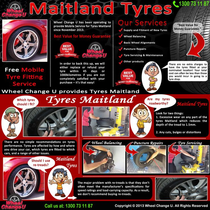 Visit our site http://www.wheelchangeu.com.au/tyres-maitland/ for more information on Maitland Tyres.The Wheel Change U van carries all of the necessary equipment to service all of your tyre needs for Tyres Maitland. This includes a Wheel Balancer, Tyre Changing Machine, appropriate power tools, generators and jacks to complete the work.