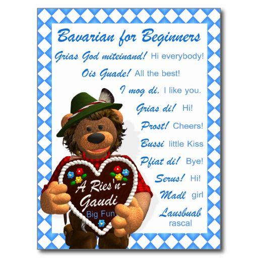 Dinky Bären bayerisch für Anfänger Postkarten