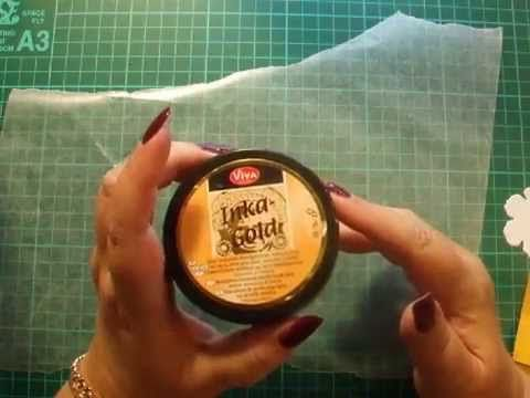 30.Technique: How to use Viva Decor's Inka Gold Metallic Paint for your Paper Crafts - YouTube