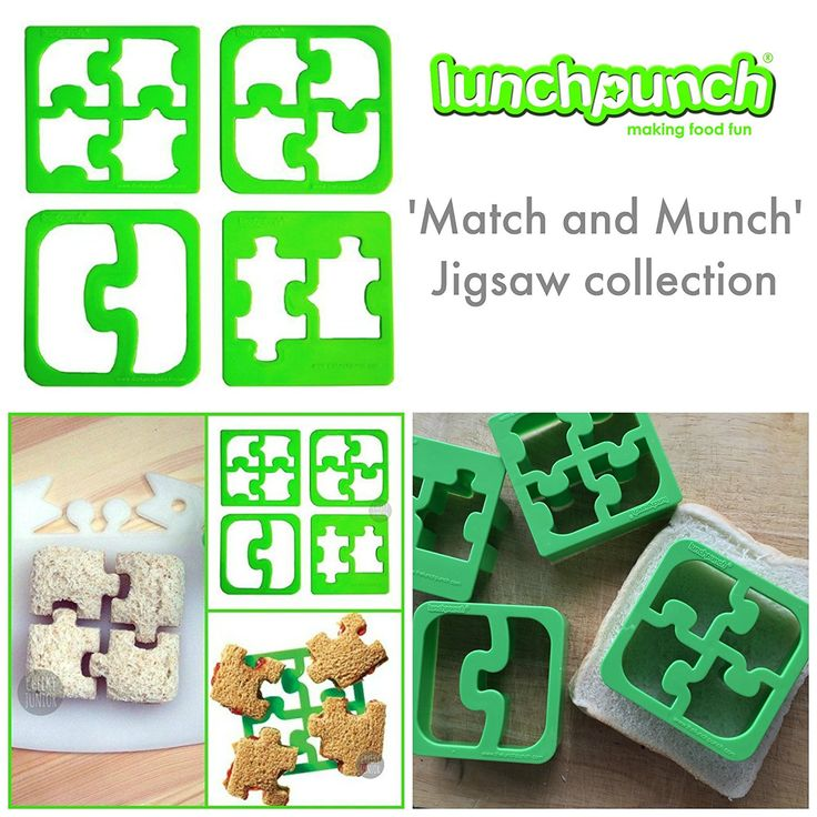 Lunch Punch Sandwich Cutters, Set of 4, Puzzle Shape >>> Unbelievable offers are coming! : Baking Accessories