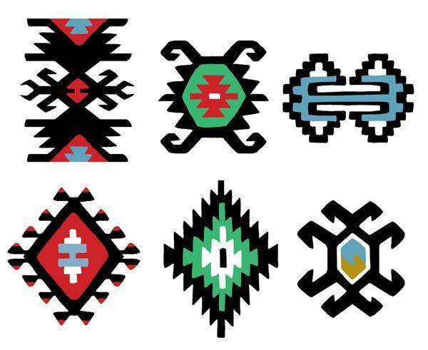 Traditional kilim motifs
