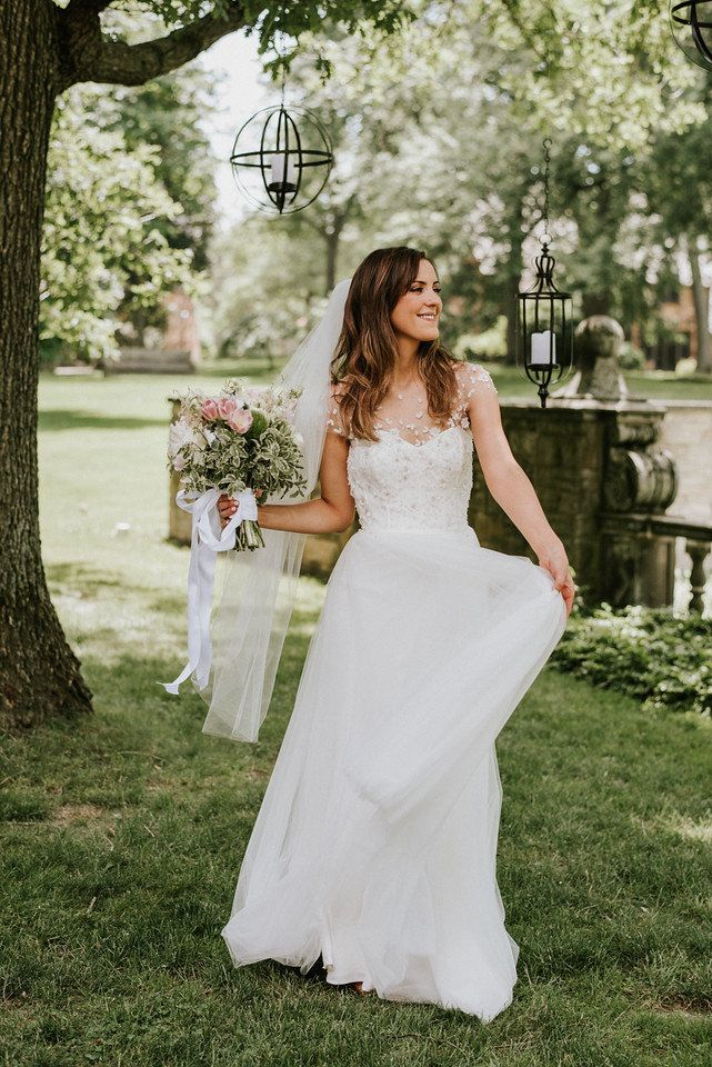 """Christos """"Hayden,"""" from Something White, Independence, Ohio / photo by Aster & Olive / Real Wedding: Amy & Gregory's Modern Whimsical Cleveland Wedding"""