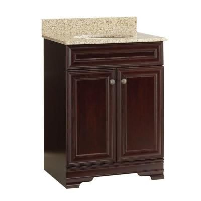 Home Decorators Collection Grafton 25 In Vanity In Crimson With Granite Vanity Top In Beige
