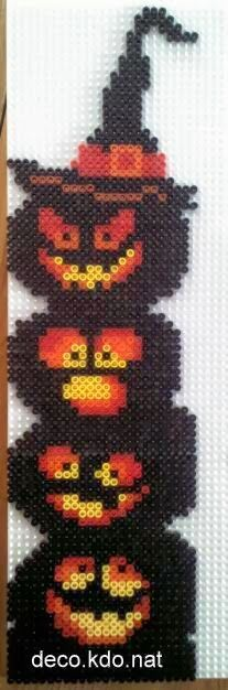 Halloween pumpkins hama perler by deco.kdo.nat