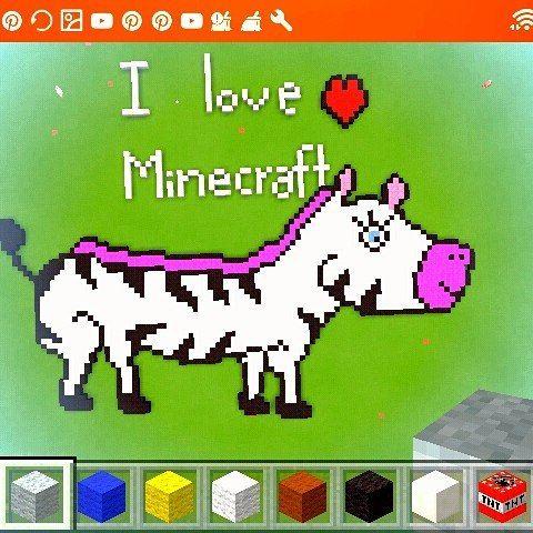My craft zebra