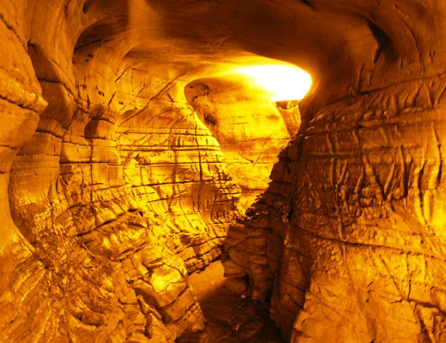 Belum Caves, Andhra Pradesh  An archaeological marvel, the Belum Caves looks like a scene straight out of an Indiana Jones movie. The stalactite and stalagmite formations in the cave will leave you wide-eyed and open-mouthed!
