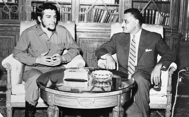 Gamal Abdel Nasser Meeting with Ernesto Guevara