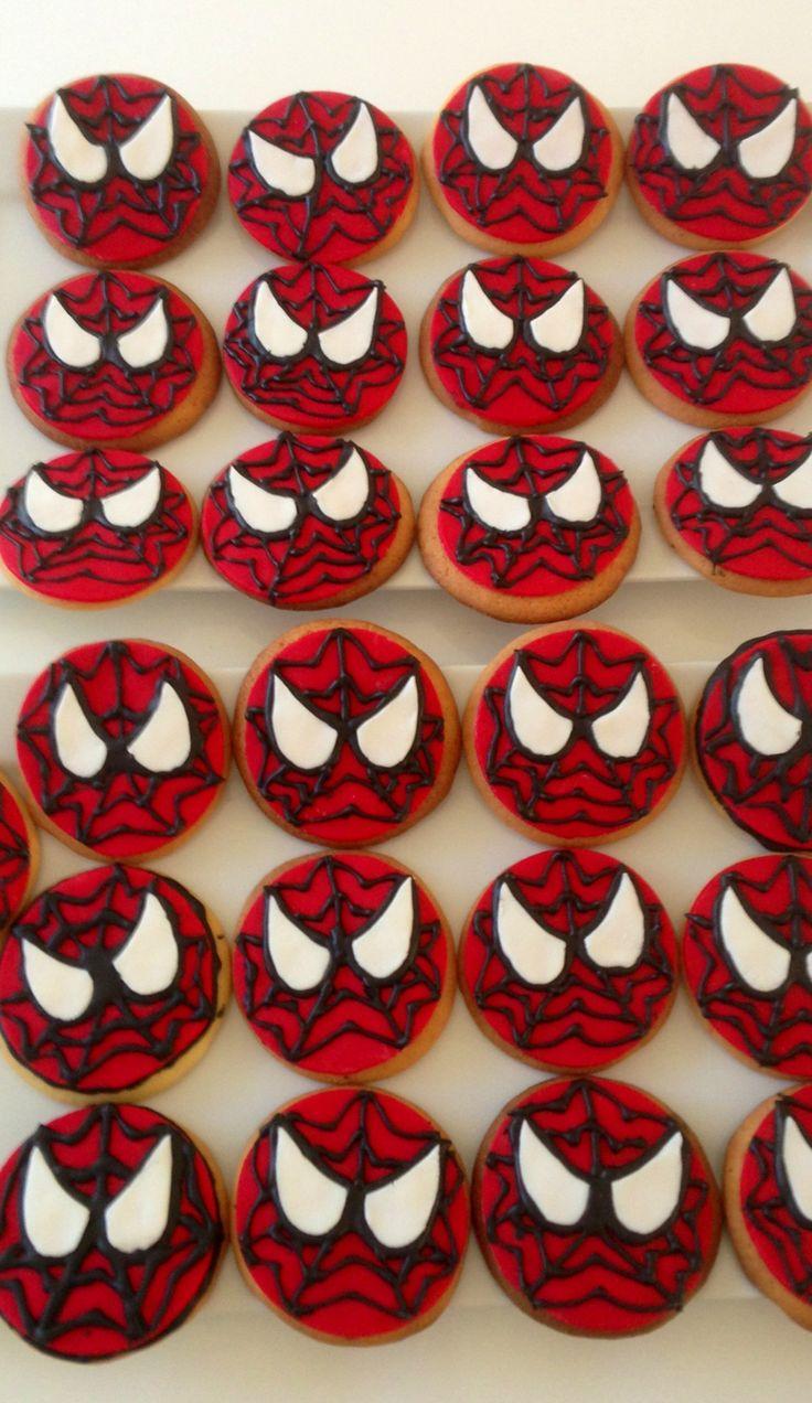 Spider-Man cookies.