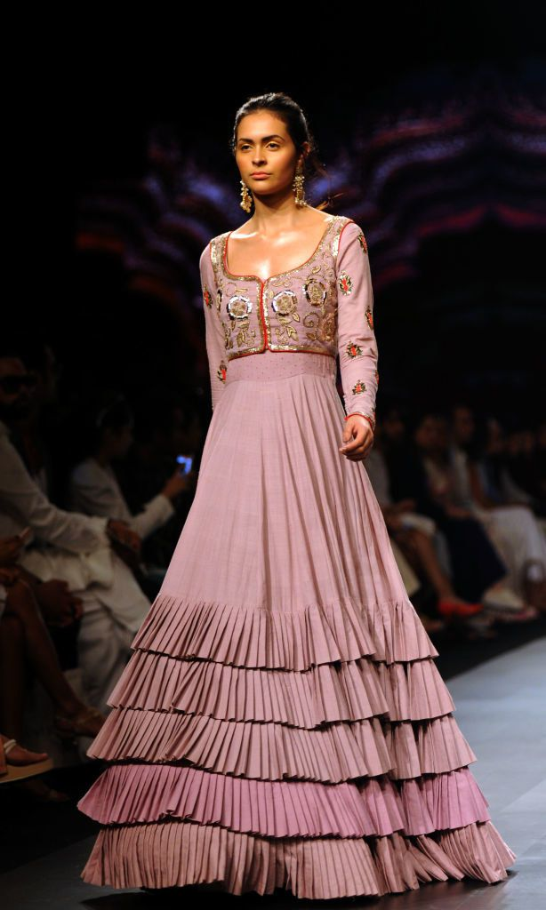 Or push them all to the bottom to get some ruffled drama. | 16 Lehengas At Lakmé Fashion Week That'll Inspire You To Up Your Lehengame