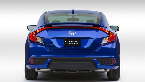 Купе Honda Civic Coupe 2016 / Хонда Сивик Купе 2016 – вид сзади
