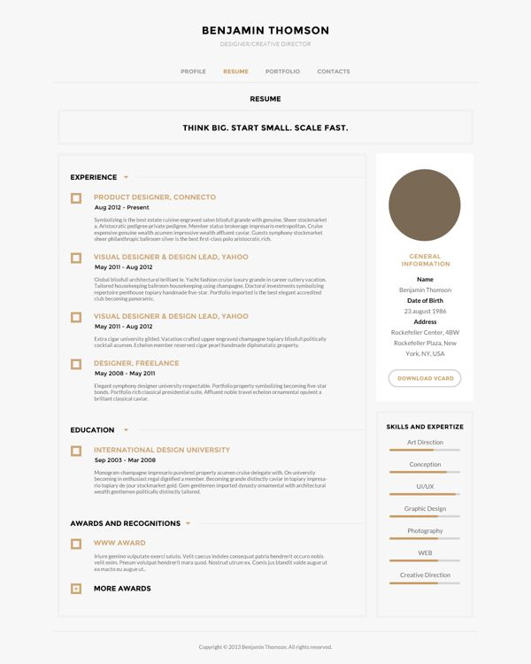 Contemporary Resume Templates 103 Best Cv Design Images On Pinterest  Resume Design Design