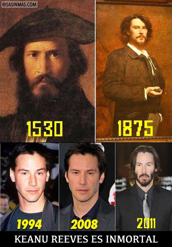 Keanu Reeves es inmortal. Re-pinned by http://www.Basic-Spanish-Words.com/