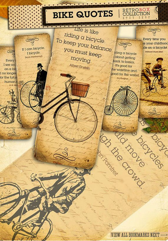 Bicycle quotes Bookmarks