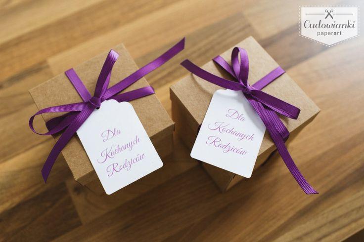 Great way to ask someone to be your bridesmaid. Wedding thank-you gifts for parents. / Pudełeczko z pytaniem o czy zostaniesz moją świadkową lub dobry pomysł na podziękowanie dla rodziców