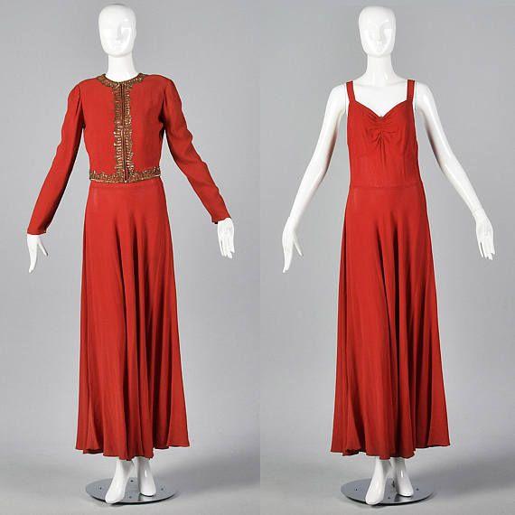 1940s Vintage Prima Hollywood Red Carpet Bustle Hip Drape Glamour Dress Glamour Dress Hollywood Red Carpet Dresses
