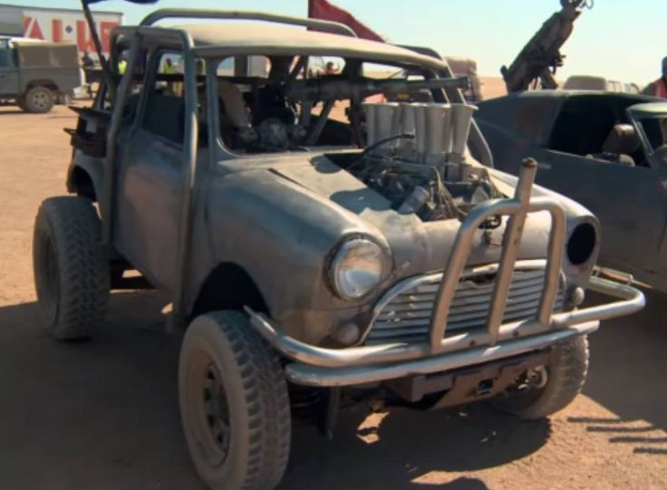 This marauder's vehicle is a heavily modified Mini Cooper s 1964. A heavily modified Mini Cooper S shell from 1964 with a Holden straight six engine. The shell was mounted on a Holden 186 farm buggy. The buggy was a cheap eBay buy and the Mini was bought for another reason that was scrapped, so the builders decided to marry the two. The vehicle had a harpoon gun mounted in the cab, a roll-cage around the shell of the car, small bull bar and a set of six gasser intakes.