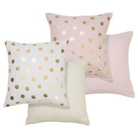 Foil Spot Cushions good for rose gold