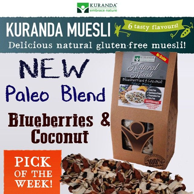 #kurandawholefoods new Blueberries and Coconut Muesli #paleo blend available now to buy online at www.aussiehealthsnax.com.au it's the blend that has everyone raving!  #inselly #glutenfree #instahot #protein #energy #raw #Wellbeing #nutrition