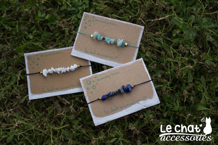 Βραχιόλια από σχοινί με διάφορες πέτρες τσιπς, διακριτικά και ξεχωριστά, μπορείτε να φορέσετε ένα ή πολλά μαζί.   #lechataccessories #handmadecreations #cordbracelets #summercolours #braceletcombination  © Danae Lolou  Find me on Facebook & Instagram : Le Chat Accessories for more photos. https://www.facebook.com/lechataccessoriesdanae/  https://www.instagram.com/lechataccessories/