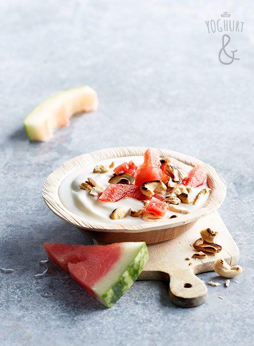 Yoghurt & Vannmelon & Cashewnøtter - Se flere spennende yoghurtvarianter på yoghurt.no - Et inspirasjonsmagasin for yoghurt.