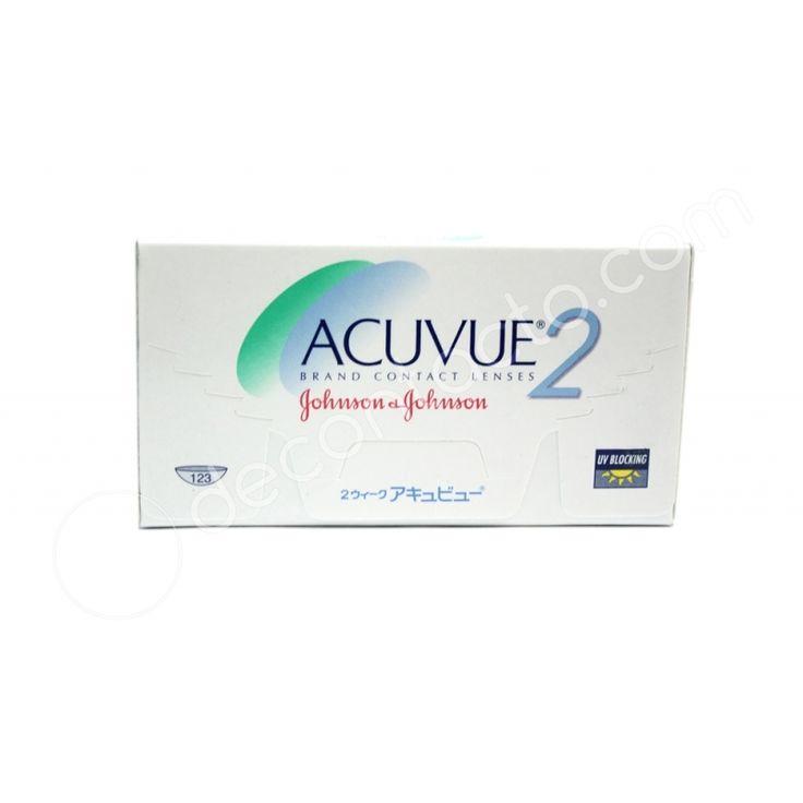 Acuvue 2 - Son lentes de contacto blandos esféricos de uso diario con reemplazo QUINCENAL ó semanal si se usa día y noche, corrige miopía o hipermetropía.
