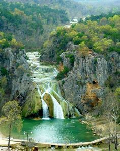 Turner Falls, Oklahoma. USA. Turner Falls is tucked away in the Arbuckle mountains of Oklahoma, and is that state's oldest park.