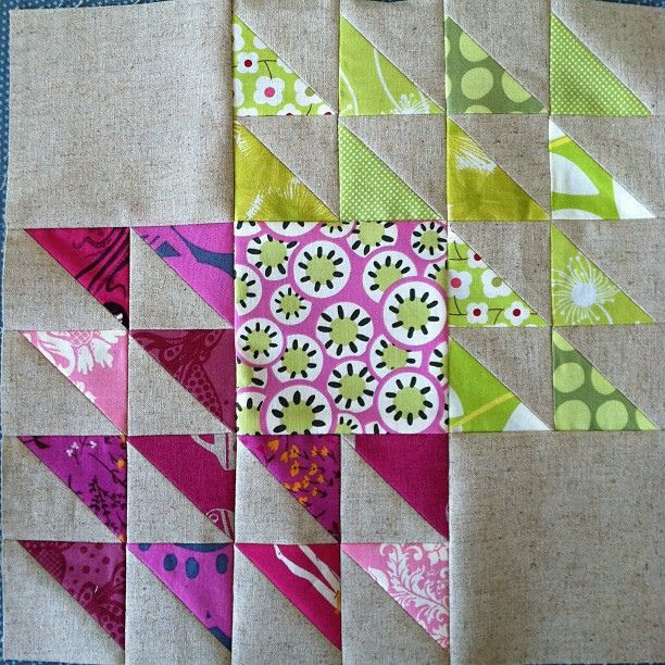 merging 2 colors, with  big blocks this could be a whole quilt!