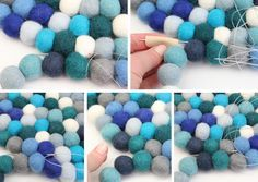 Felt Ball Rug | a tutorial with lots of pics!
