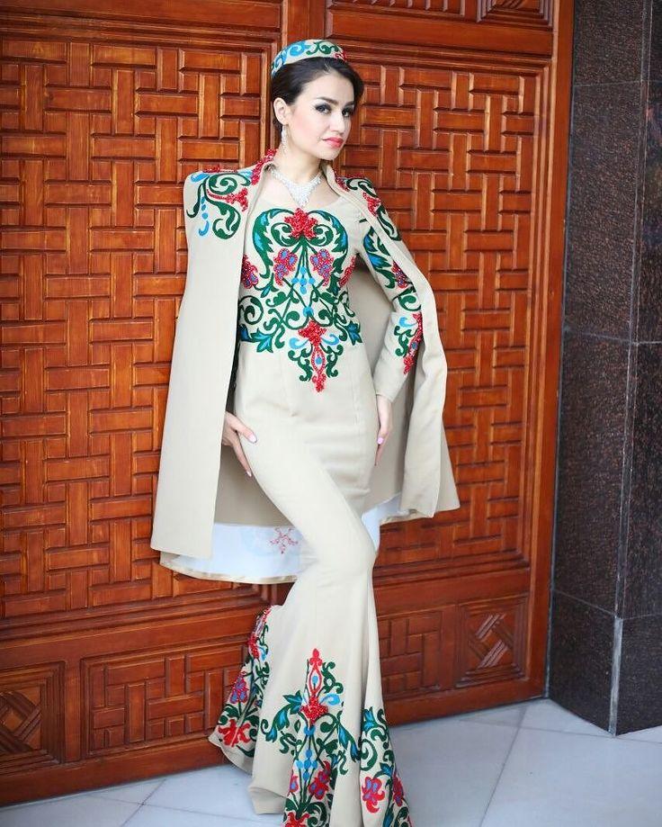 красивых картинки таджикских платьев света узком
