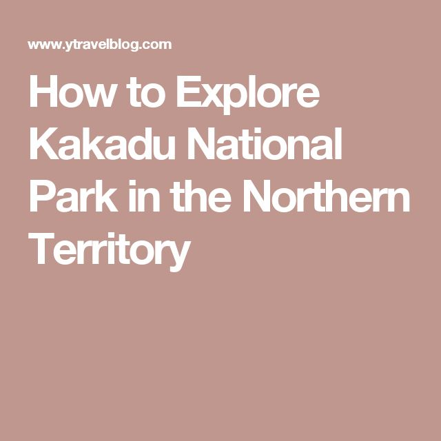 How to Explore Kakadu National Park in the Northern Territory