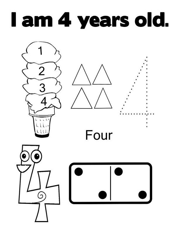 4 Year Old Worksheets In 2020 With Images Kids Learning
