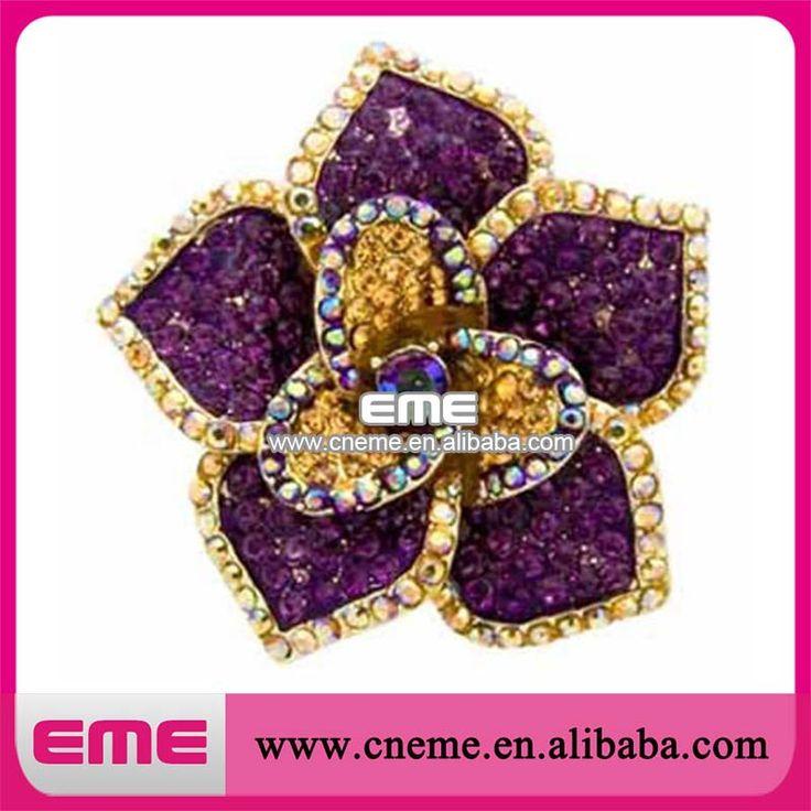 Цветовой гаммы фиолетовый / золото сплава с бантом брошь винтажный стиль одежды аксессуары