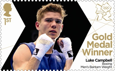 Royal Mail 'next day' Gold Medal winners stamp for Team GB - Luke Campbell Men's Boxing 56kg bantam weight #London2012 #Olympics