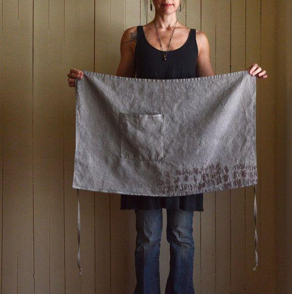 Caraway Hemp Half Apron | untold imprint handmade textiles