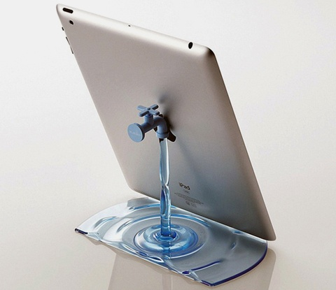 Faucet Stand by NendoIdeas, Gadgets, Stuff, Home Accessories, Ipadstand, Faucets, Japan Design, Ipad Stands, Products