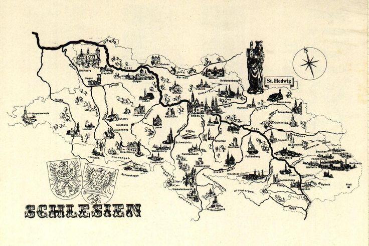 Schlesien pictured map
