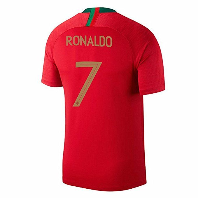 hiwkh Ronaldo  7 Portugal 2018 World Cup Home Jersey Color Red Size ... 3d5ac845f