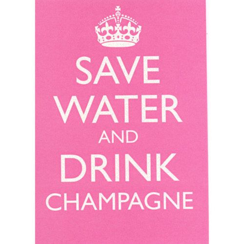motto to live by.: Books Jackets, Save Water, Quotes, Drinkchampagn, Keepcalm, Life Mottos, Pink, Keep Calm, Drinks Champagne